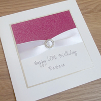 Handmade 60th birthday card, personalised, you can choose any age or name