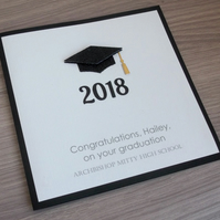 Handmade graduation card, can be personalized with any message