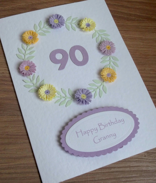 90th birthday card - can be for any age!