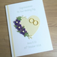 Quilled handmade wedding congratulations card - personalised