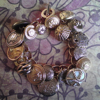Grannies Buttons Locket Charm Bracelet