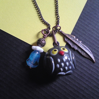 Kitsch Wise Old Owl Charm Necklace
