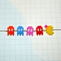 ms pacman and ghost chase bracelet