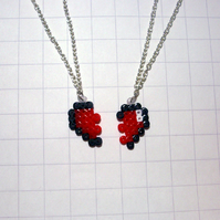 pieces of heart necklaces (set of two)
