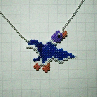 blue duck necklace