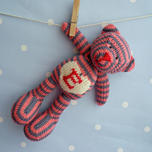 Personalised Chunky Hand Knitted Teddy Bear