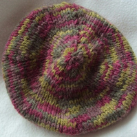 Hand knitted Soft Beret Hat