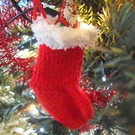 Knitting Pattern for Mini Christmas Stocking
