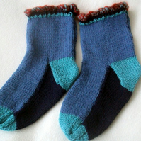 Hand Knitted Slouch Socks