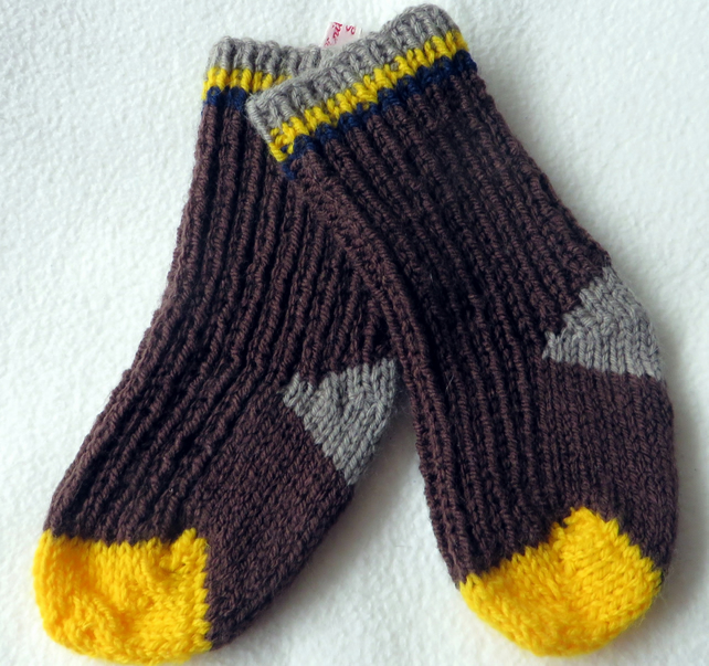 Hand Knitted Wellie Socks