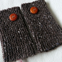 Hand Knitted Hand Warmers, Accessories, Fashion, gloves,garter stitch,rowan wool
