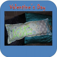 "Valentines ""Love"" cushion"