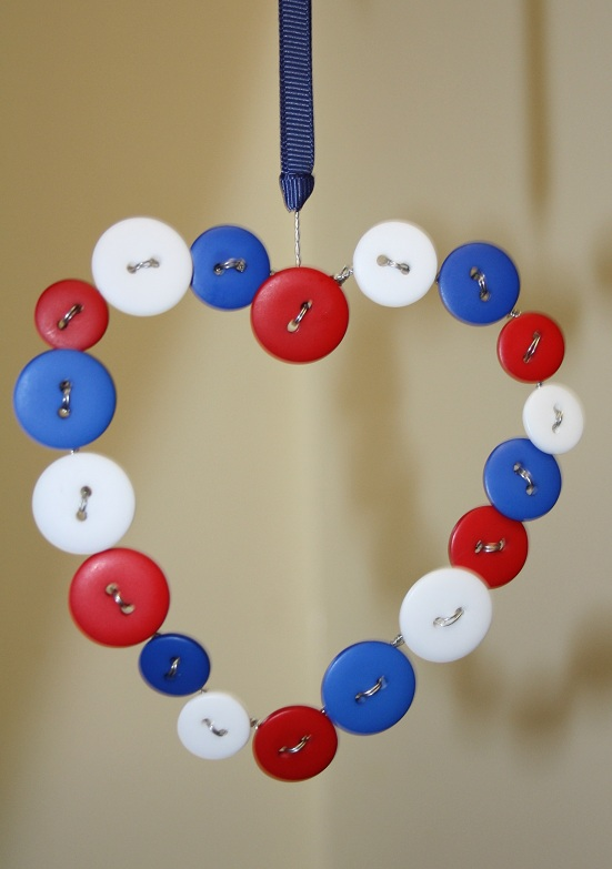 A Hanging Heart of Buttons