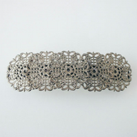 Filigree charcoal coloured hair clip