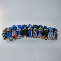 Colourful glass bead hair clips- choice of 3 colours