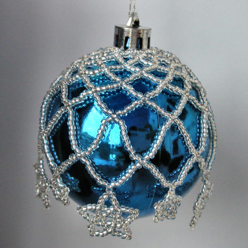 Beaded Bauble Kit- Stars- in a choice of colours