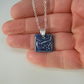 SALE Ceramic cat pendant  necklace sterling silver chain