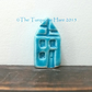 Sale - Little ceramic turquoise house