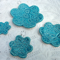 Turquoise Trinket - Tea Light Dishes set of 4
