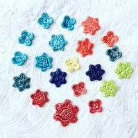 JANUARY SALE - Hand made ceramic buttons  X20 Various colours and sizes