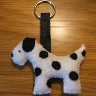 Danny the Dalmation dog felt keyring
