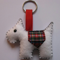 Jack the Westie dog felt keyring