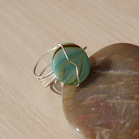 The Green Collection Bead Ring