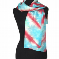 Red Arrows - Hand Dyed Pure Silk Long Scarf - Aeroplane Plane