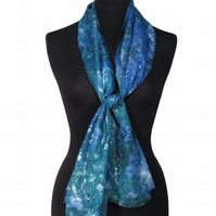 Moss Agate - Hand Dyed Pure Silk Long Scarf