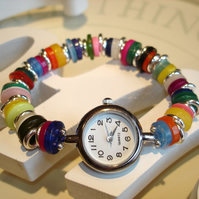 SALE Fun Bright Button Watch