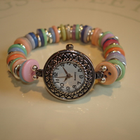 Pastel Button Watch