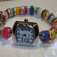SALE Funky Button Watch