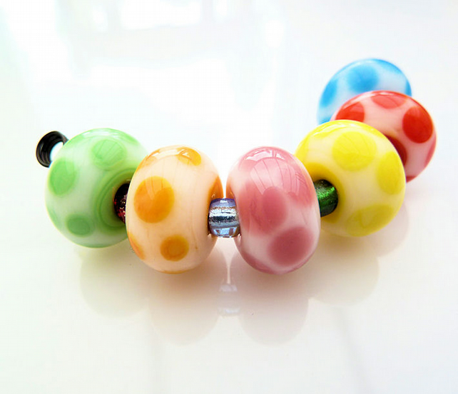 Milkberry Lampwork Bead Set SRA