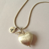 Reserved for Sue - 'J' Charm necklace