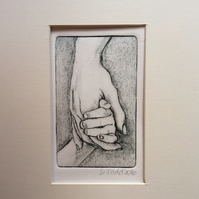 'Mother and Child' Mother's Day original Hand Pulled Print