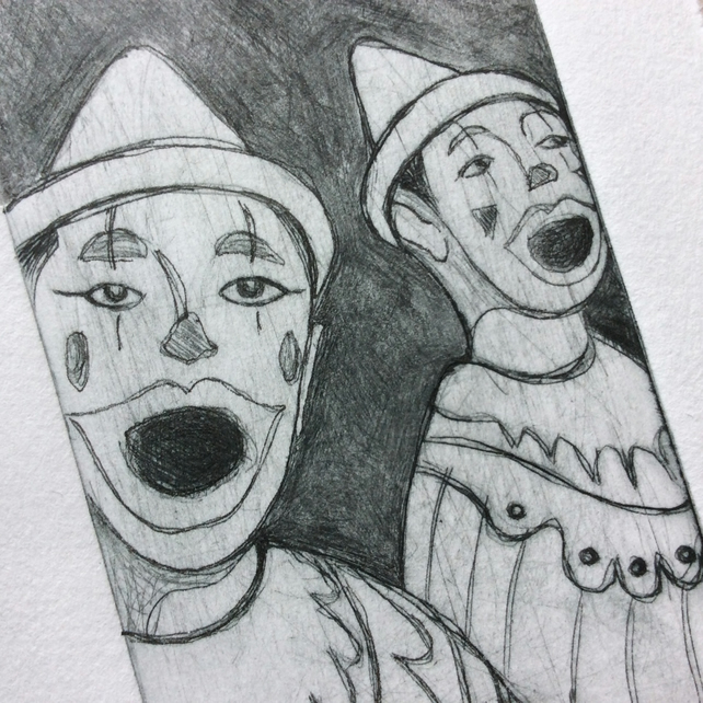 'Carnival Clowns' original Hand Pulled Print by Debbie Todd