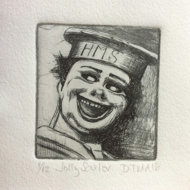 'Jolly Sailor' original Hand Pulled Print by Debbie Todd