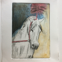 'Circus Horse' original Hand Pulled Print by Debbie Todd