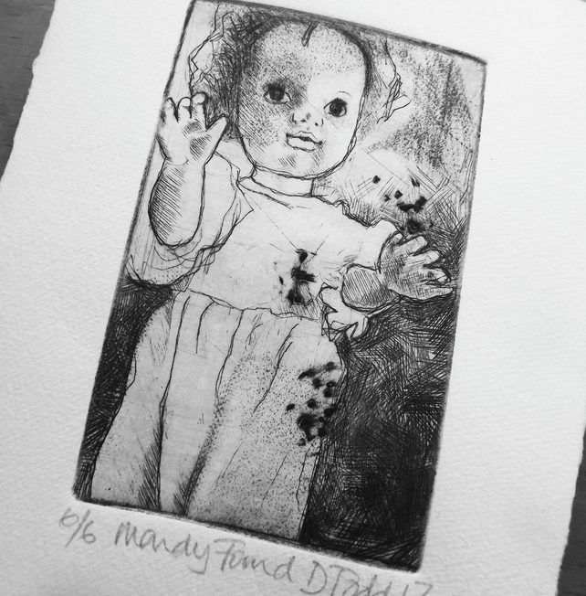 'Mandy Found' Limited Edition Original Hand Pulled Print by Debbie Todd