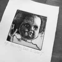 'Pailitoy Doll' Limited Edition Original Hand Pulled Print by Debbie Todd