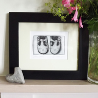 'Little Shoes' Limited Edition Original Hand Pulled Print by Debbie Todd