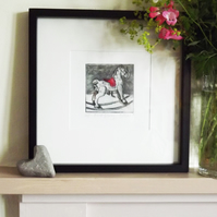 'First Pony' Chine Colle Original Hand Pulled Print by Debbie Todd