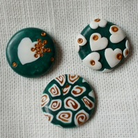 little round magnets (set of three)