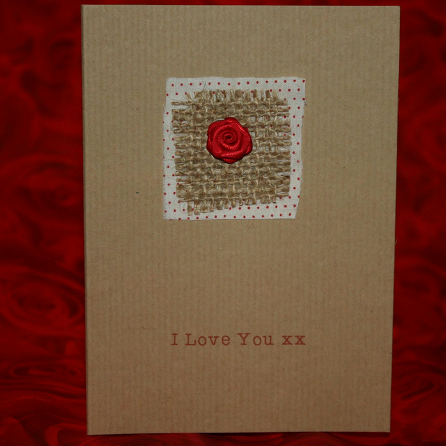 Red Rose Love Card