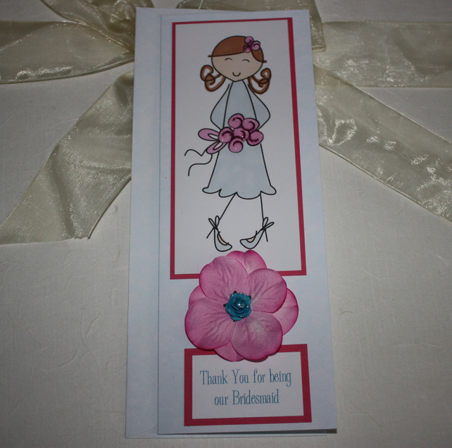 Bridesmaid Thank You card - now reduced