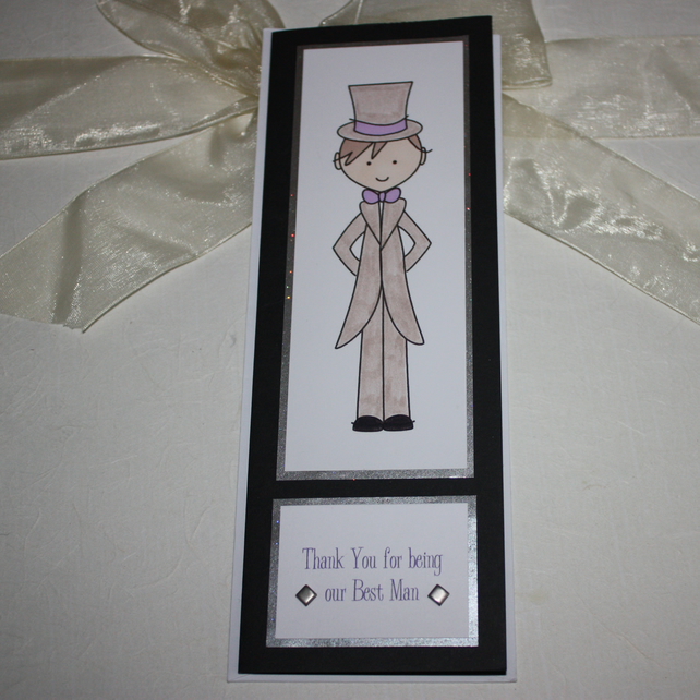 Thank You Best Man card - now reduced