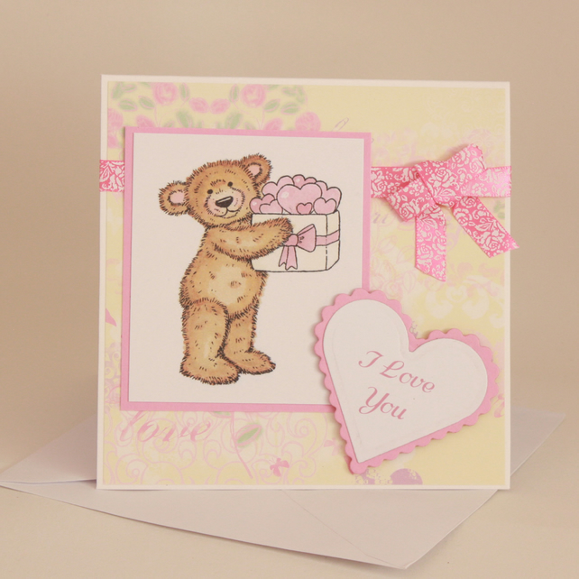Cute teddy love card