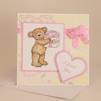 Cute teddy love card - now reduced