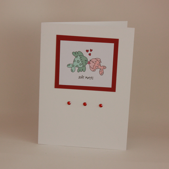 Fishy kisses card - anniversary or valentine - now reduced