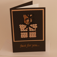 Handmade card - black and gold gift boxes